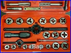 Snap On TDM117A Metric Tap and Die 41 pc Set Mechanic Tool