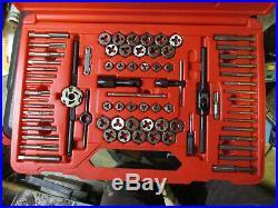 Snap-On TDTDM500A 75 Piece Tap & Die Set Barely Used missing MM gauge