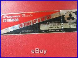 Snap-On TDTDM500A 76 PC. Tap & Die Set 1 Missing Piece