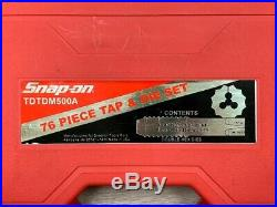 Snap-On TDTDM500A 76 Piece Tap & Die Set NEW And Complete