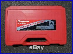 Snap On TDTDM500A 76 pc Combination Tap & Die Set Threading Sae/Metric used