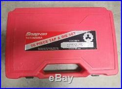 Snap On TDTDM500A 76pc Tap & Die Set in case