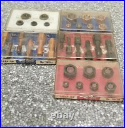 Snap-On TRT6C TRC7A TRF7A TRT6FTDM-50 Hex Rethreader Tap Die Metric SAE 5 Sets