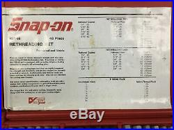 Snap On Tap And Die Set 48 Piece Rethread Kit With Hard Case (RTD48)