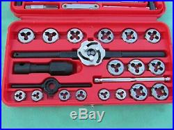 Snap On Td2425 41 Piece Sae Tap And Die Set Nf Nc Threads #4 1/2 Free Ship