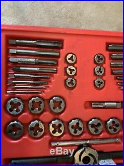 Snap On Tdtdm117, 77Pc Delux Tap And Die Set, See Pics. 77pieces