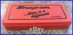 Snap On Tool 41pc TD-2425 Tap & Die Set HEX Thread Wrench Pipe Kit with Case