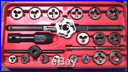 Snap On Tool 41pc TD-2425 Tap & Die Set HEX thread wrench pipe kit case Standard