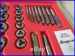 Snap On Tools 117pc Tap & Die / Drill Bit Set