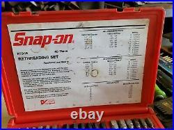 Snap On Tools 48 Pc Metric & SAE Master Rethreading Tap & Die Kit RTD48 MINT