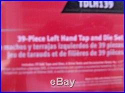 Snap-On Tools SAE TDLH139 39 Piece Tap and Die Set left handed new sealed