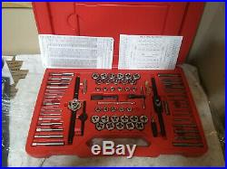 Snap On Tools TDTDM500A 75 pc Combination Tap & Die Set Threading Sae/Metric