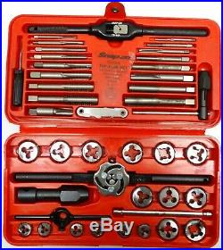 Snap-On Tools TD-2425 41pc Tap & Die Set HEX Thread Wrench Pipe Kit with Case