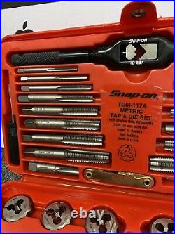 Snap On Tools USA Tap And Die Set Kit Metric Tdm-117a