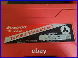 Snap-On USA 76 Piece Tap & Die Set (TDTDM500A) Complete NR