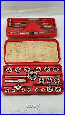 Snap-On VINTAGE 42 pc USA Tap and Die Set, TD2425 Blue Point