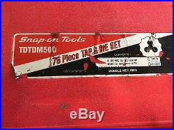 Snap On combination tap and die set. 76 Piece TDTDM500