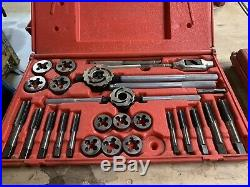 Snap On tool 24 Piece Mertic Tap & Die Set TDM99117A With Case