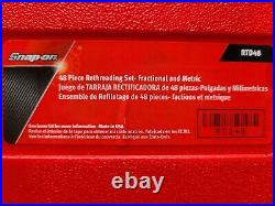 Snap-on 48 piece rethreading set- Fractional and metric- Tap and Die RTD48