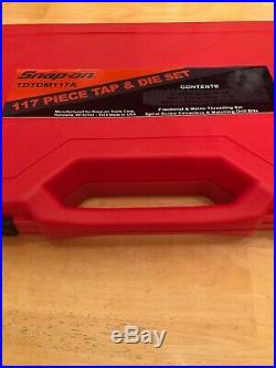 Snap-on TDTDM117A 117-pc Master Tap and Die & HSS Drill Bit Set METRIC SAE NEW