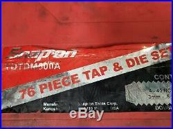Snap on TDTDM500A 76PC Tap & Die Set in Case Pre-owned