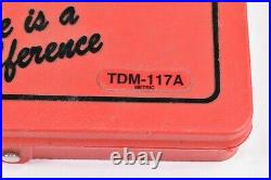 Snap-on Tools Tap And Die Set TDM-117A MISSING ONE PIECE PLEASE SEE PICTURES