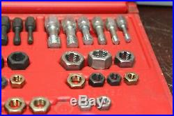 Snap on tap and die set 48 piece rethread kit in case like new rtd48