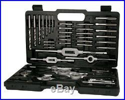 TERRAX 45pcs. Thread Cutting Tool Set HSS, Tap & Die Set M3 M12