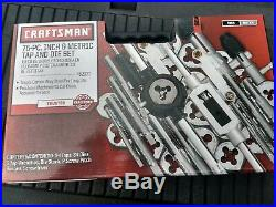 Tap And Die Set 75pc Metric SAE Threads Damaged Nuts Repair Tool Bolts Extractor
