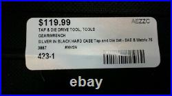 Tap & Die Drive Tool Set Gear Wrench 75pc