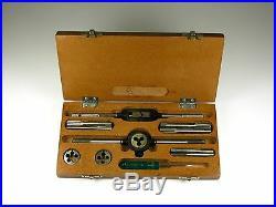 Tap & Round Die Set 1/4x26-3/8x26 Cei 26tpi 20-375 Wooden Case Triumph British