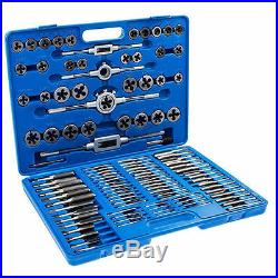 Tap and Die Set 110 piece Metric with Case Screws Extractor Remover Chasing New
