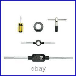 Titanium 45pcs Tap & Die Set SAE Tungsten Steel Large Tools Metal Threader Kit
