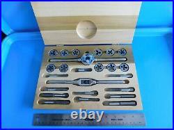 Used, Blue Point Tap & Die Set 1/4 1/2 In, Vintage Wood Box, Part #td2400a