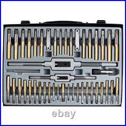 VCT 86pc Tap and Die Combination Set Tungsten Steel Titanium SAE AND METRIC Tool