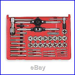 VERMONT AMERICAN Tap and Die Set, 40 pc, Carbon Steel, 21749