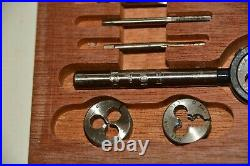 VINTAGE set of BA Taps and Dies by LAL sizes 0 2 4 6 8 in fitted wooden box GOOD