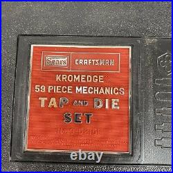 VTG NOS Sears Craftsman 9-52151 Kromdedge 59 Piece TAP & DIE SET Made in USA