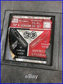 Vintage CRAFTSMAN 64 Pc HEXAGON KROMEDGE TAP AND DIE SET 9 52131