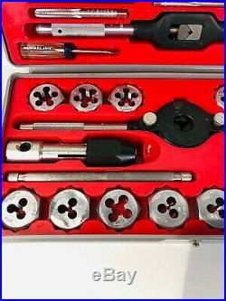 Vintage Craftsman Kromedge METRIC 41 pc Tap & Hexagon Die Set No. 52095 USA Made