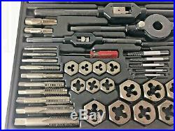 Vintage Craftsman Mechanics SAE Tap and Die Set 59 Piece model 9-52151