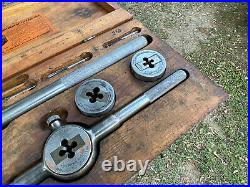 Vintage Greenfield Little Giant No. 8 Tap And Die Set WithWooden Box, 1/4 To 3/4