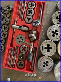 Vintage Greenfield Little Giant & Vermont & USA Tap & Die Set e65a