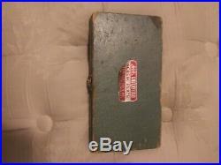 Vintage Greenfield Tap And Die Set In Wooden Case