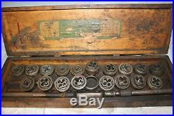 Vintage Greenfield Tap & Die 312 Little Giant Large Screw Plate Die Set Tool Lot