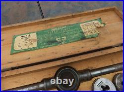 Vintage Greenfield Tap & Die Little Giant #311 Screw Plate Set In Wood Box