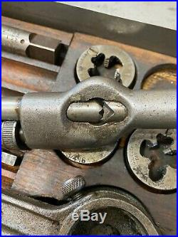 Vintage Greenfield Tap and Die Set USA SAE 33 Piece Original Steel Case