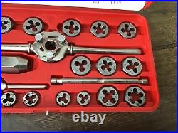 Vintage Hanson Ace Super Hex Tap & Die Set No. 606 Made in USA COMPLETE In Case