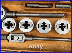 Vintage Large Stronghold Stocks & Dies British Tap And Die Set Engineering Tool