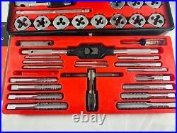 Vintage Sears Craftsman Kromedge 41 pc (-1pc) Tap & Hexagon Die Set 9 5201